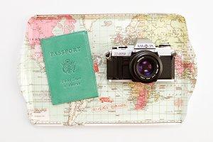 Passport Travel Stock Photo