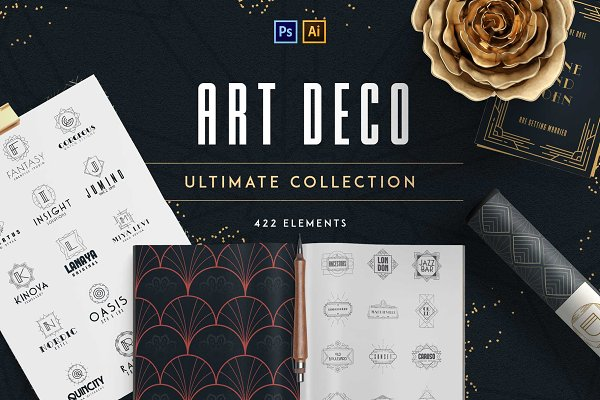Logo Templates: Vladfedotovv - Art Deco Ultimate Collection -50%