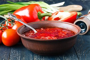 Russian traditional borsch