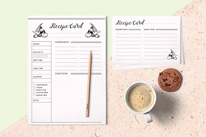 Recipe Card Templates, Meal Planner