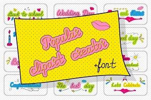 Clipart Creator + Handwritten Font