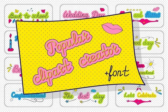 Clipart Creator Handwritten Font