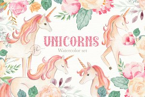 Unicorn Watercolor Set