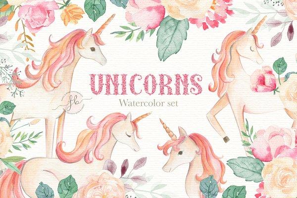 Unicorn Watercolor Set