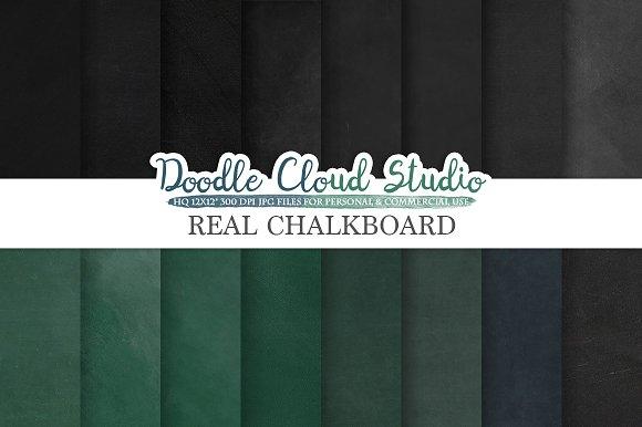 Real Chalkboard Digital Paper
