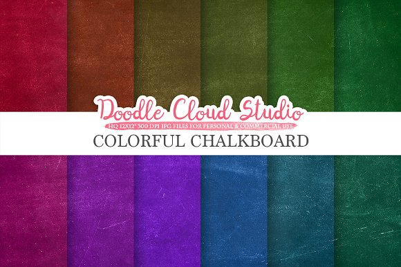 Colorful Real Chalkboard