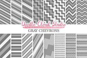 Gray Chevron digital paper