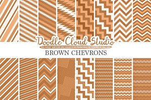 Brown Chevron digital paper
