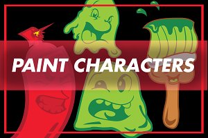 Vector Paint Characters