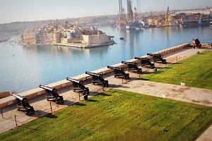 Aeriel view of Valletta, Malta