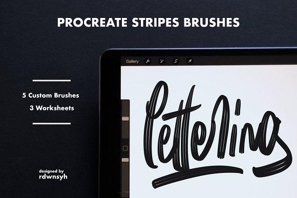 Procreate Stripes Brushes