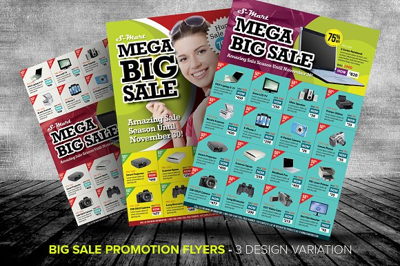 Big Sale Promotion Flyer Templates Templates on Creative Market – Sales Flyer Template