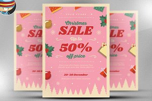 Christmas Sale 2017 Flyer Template