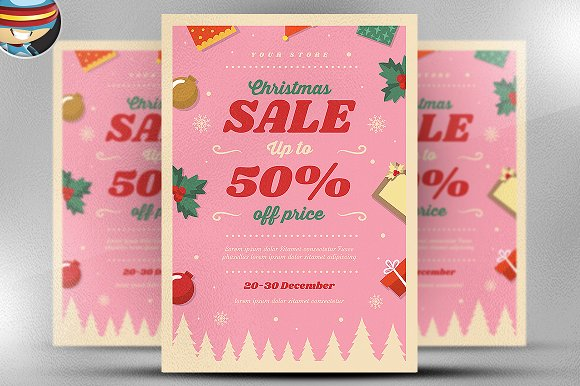 Christmas Sale 2017 Flyer Template