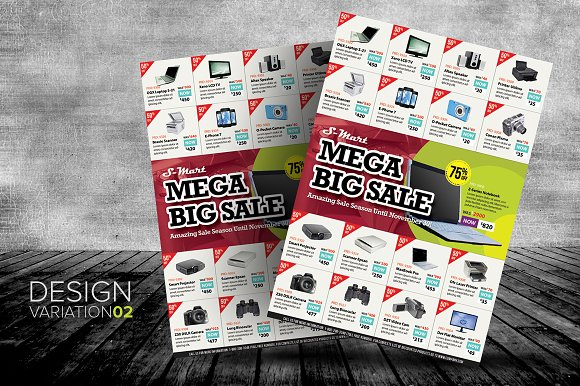 big sale promotion flyer templates templates creative market