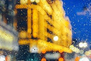 Emotional melancholic London blur