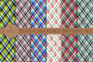SALE! Plaid Checkered Patterns Set