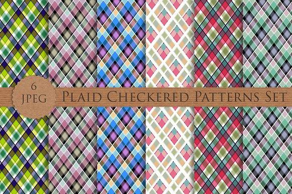 Plaid Checkered Patterns Set