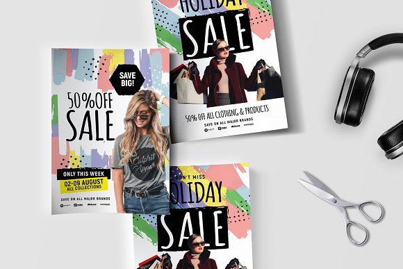 a4 grand sale poster templates flyer templates creative market