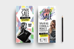 Grand Sale DL Rack Card Template