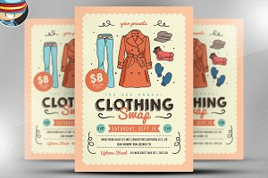 Community Clothing Swap Flyer