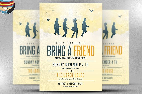 Bring A Friend To Church Flyer