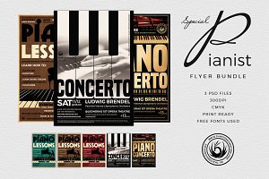 Special Pianist Flyer Bundle