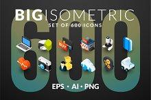 600 ISOMETRIC ICONS