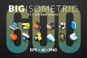 600 ISOMETRIC ICONS