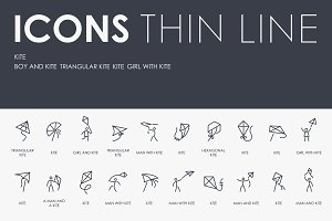 Kite thinline icons