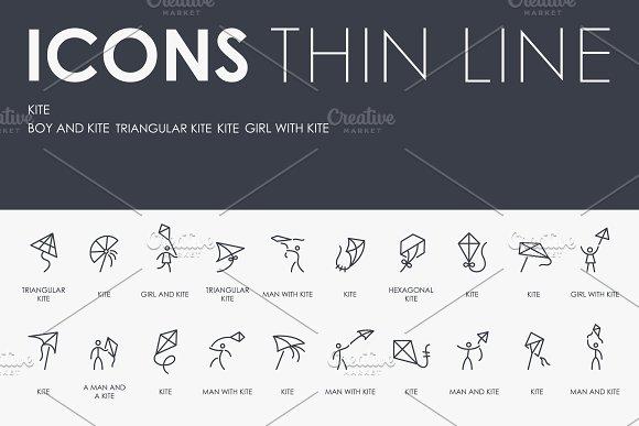 Kite Thinline Icons