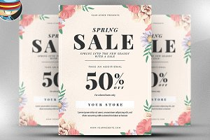 Spring Sale Flyer Template v1