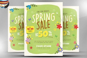 Spring Sale Flyer Template v3