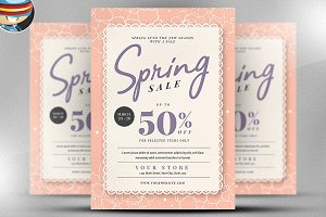 Spring Sale Flyer Template v4