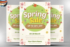 Spring Sale Flyer Template v5