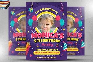 Kids Birthday Flyer Template v2