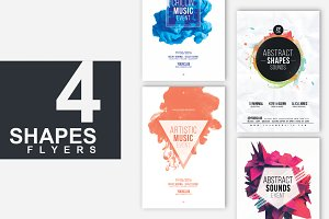 4in1 ABSTRACT SHAPES Flyer Templates