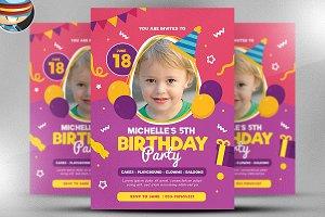 Kid's Birthday Flyer Template v3