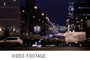 Timelapse of night traffic in Moscow