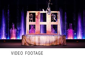 Acrobatic performance in circus