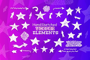 Handsketched Vector elements/arrows
