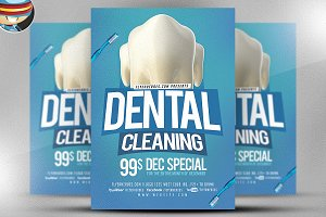 Dental Cleaning Flyer Template