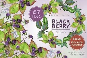 Sweetly blackberryJPG watercolor set