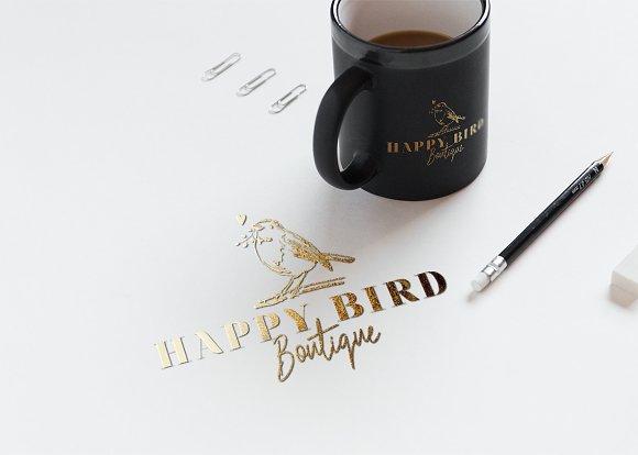 Bird Logo Sketchy Artistic Style 1