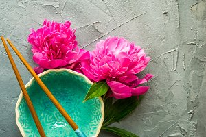 Peony flowers in a spring concept