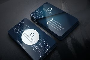 Abstract Business Card-Circuit touch