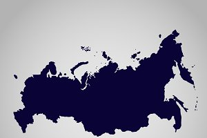 map of  Russian Federation, vector