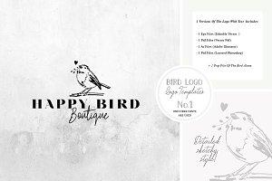 Bird Logo -Sketchy Artistic style 1