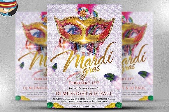 Mardi Gras Flyer Template V4