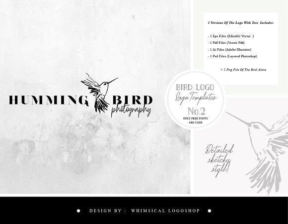 Bird Logo Sketchy Artistic Style 2